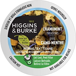 Higgins & Burke Chamomint Meadows, Loose Leaf Herbal Tea, Keurig K-Cup Brewer Compatible Pods, 24 Count (COMINHKG067479)