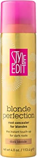 Style Edit DARK BLONDE Root Concealer Touch Up Spray | Instantly Covers Grey Roots | Professional Salon Quality Cover Up Hair Products for Women| 4 Ounce (Pack of 1)