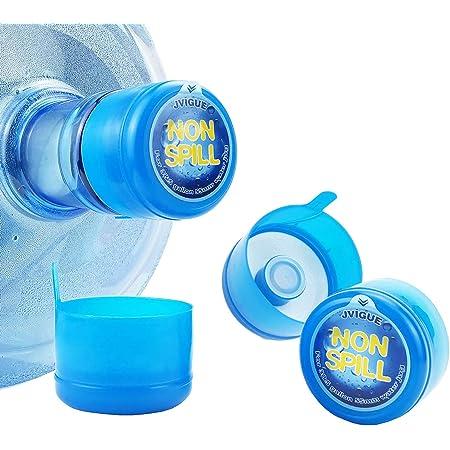 5Pcs 55mm 3//5 Gallon Water Jugs Lids Reusable Anti-Splash Water Bottle Caps USA
