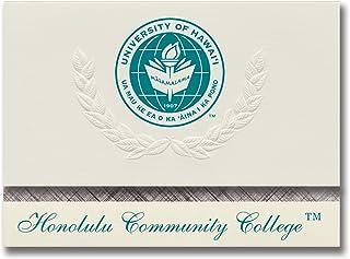 Signature Ankündigungen Honolulu Community College Graduation Ankündigungen, platin Stil, Elite Pack 20 mit Universität Hawaii – Honolulu CC Dichtung Folie B0793M1P91  Hochwertige Materialien