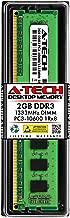 A-Tech 2GB DDR3 1333MHz Desktop Memory Module (1 x 2GB) PC3-10600 Non-ECC Unbuffered DIMM 240-Pin 1Rx8 1.5V Single Rank Computer RAM Upgrade Stick