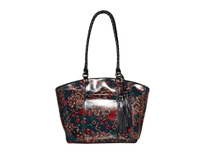Patricia Nash Michel Dome Zip Top Tote (Fall Tapestry) Handbags