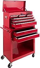 Arebos carro de taller 7 compartimentos | Caja herramientas | Recubrimiento antideslizante | Carro herramientas | Ruedas c...