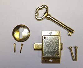 Grandfather Clock Door Lock & Key Set NEW Brass Ridgeway Howard Miller Sligh