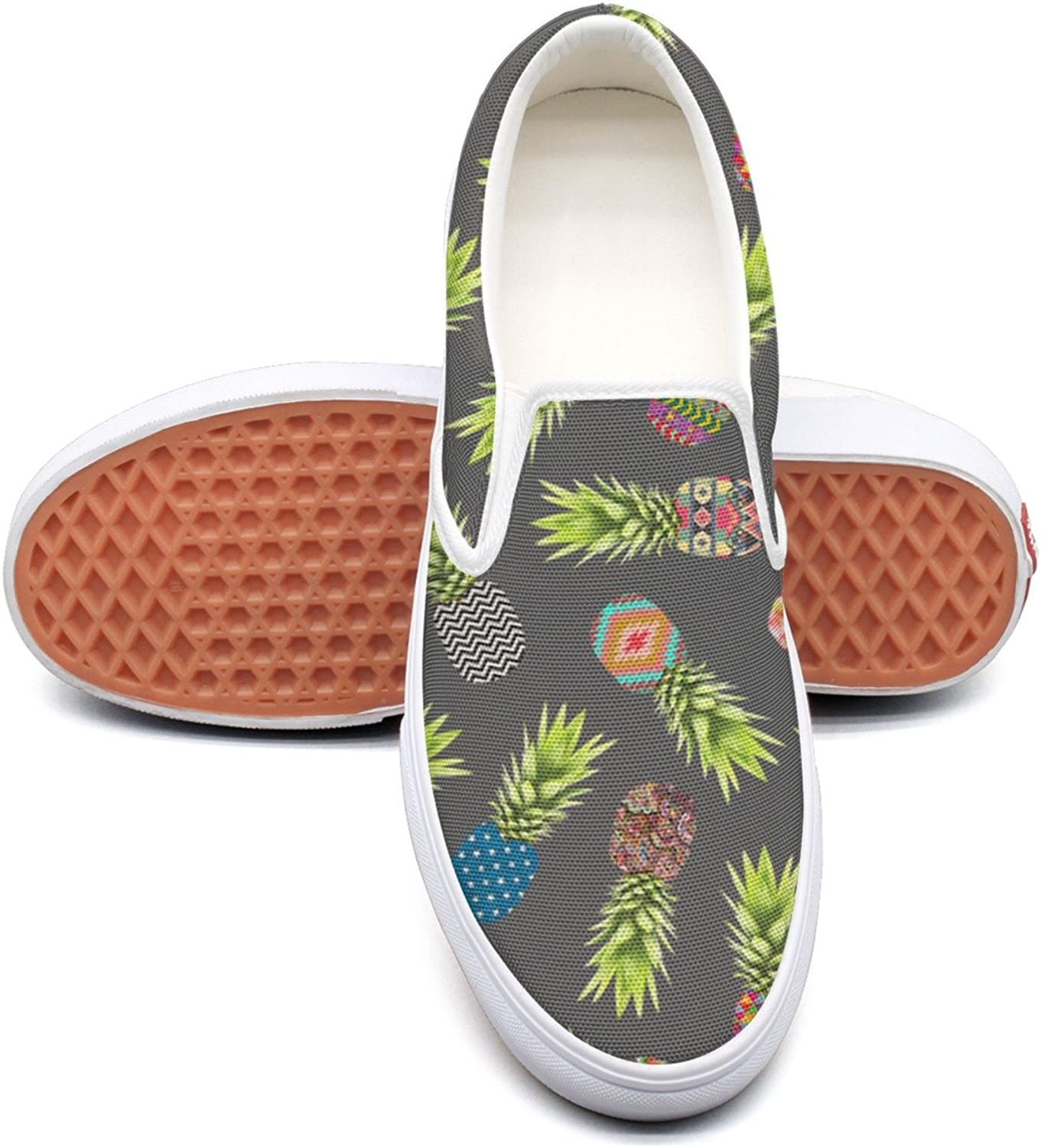 SEERTED Abstract Pineapples Pattern Basketball Sneakers for Women