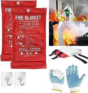 Fire Blanket Fiberglass Emergency Fire Blanket Kitchen | Fire Retardant Blankets Safety | Suppression Blanket Flame Emerge...