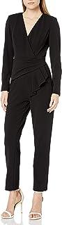 Adrianna Papell Women's Draped Waist Jumpsuit, Black