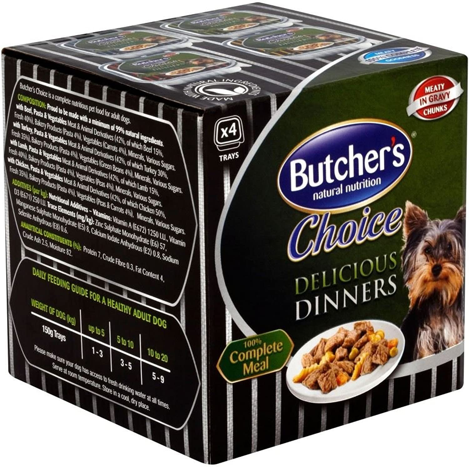 Butcher's Choice Delicious Dinners Variety (4x150g)  Pack of 6