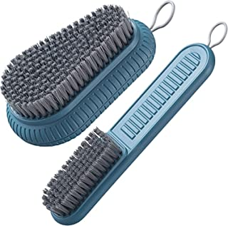 Selaurel Cleaning Brush Soft Bristle Brush Laundry Scrub Brush Clothes Underwear Shoes Scrubbing Brush, Easy to Grip Household Cleaning Brushes Tool for Countertops Bathtubs (Blue)