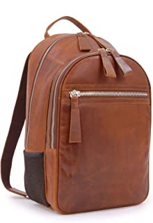 Ashwood Zip Backpack Rucksack - Oily Hunter Leather - Kingsbury Collection - 1663 - Tablet Compartment - Chestnut Tan