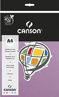 Papel Colorido A4 120g/m², Canson, 66661223, Lilás, 15 Folhas
