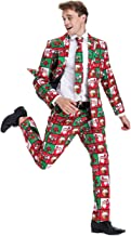 Mens Christmas Bachelor Party Suit Funny Novelty Xmas Jacket with Tie