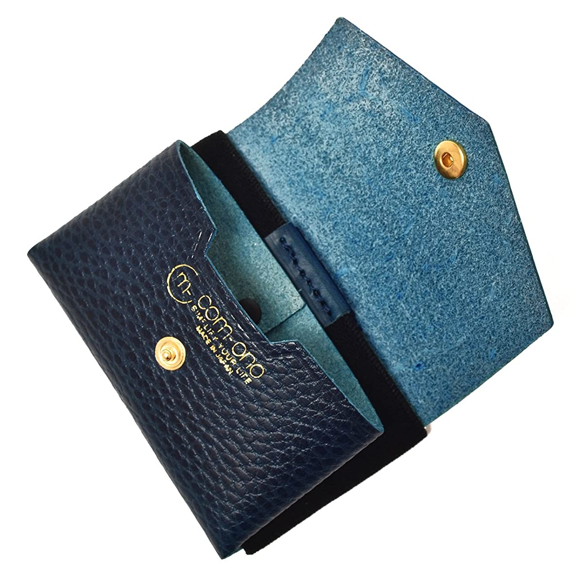 ファックス揮発性ラジウムCOM-ONO コンパクトミニ 財布 TINY SERIES 001(ブルー) 日本製 小銭入れ 財布革