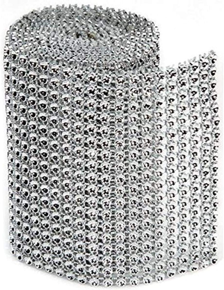 Darice RH1017 Bling Year-end gift on a Roll Large-scale sale 3mm by 18 1-Yard Silver Rows