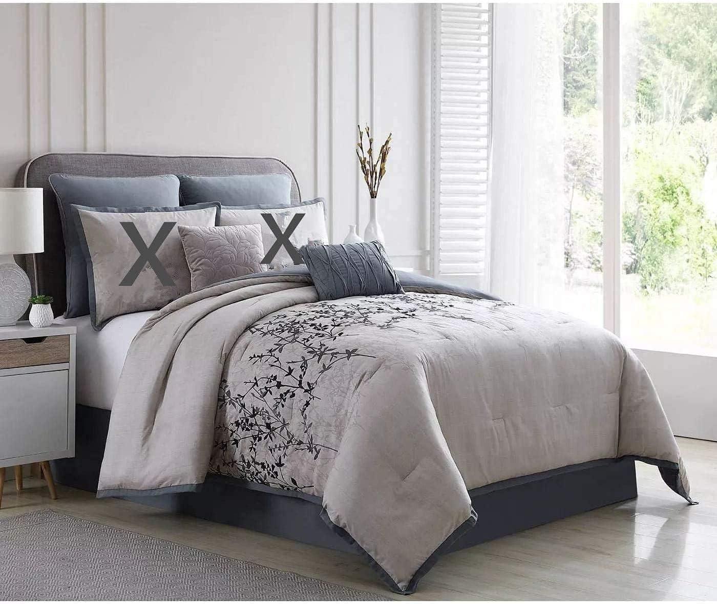 Comforter Set Black White and Finally resale start Grey Large discharge sale Gray Printed Modern Pattern