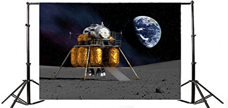 Yeele 9x6ft Lunar Probe Photo Backdrops Moon Surface Exploration Moon Landing Background for Photography Vinyl Science Universe Probes Baby Girls Student Portraits Video Photo Shoot Studio Props
