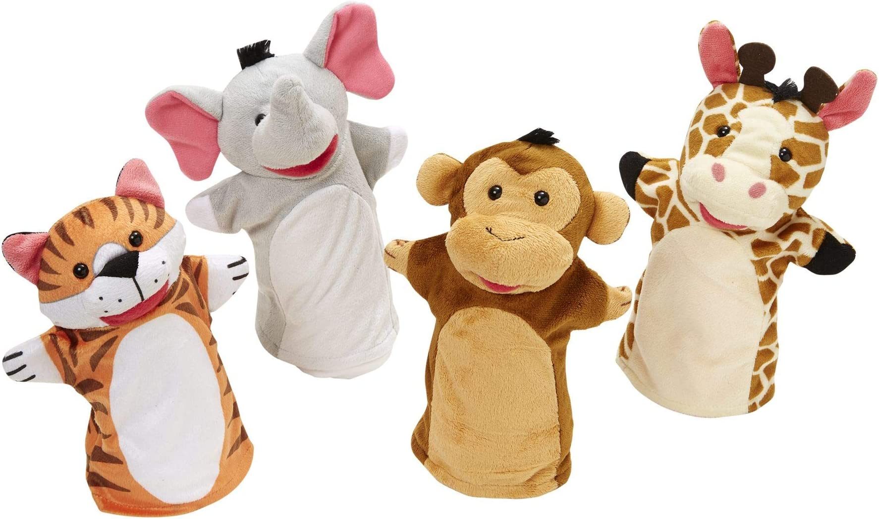 Melissa & Doug Zoo Friends Hand Puppets Puppets and Theaters Themed Puppet Sets 3+ Gift for Boy or Girl