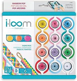 Style Me Up! i-Loom Rainbow Pop Friendship Bracelet Thread and Bracelet Locks - Bracelet Patterns - 12 Pack of Rainbow Bracelet String…