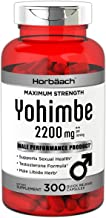 Max Strength Yohimbe 2200 mg | 300 Powder Capsules | Male Performance Supplement | Non-GMO, Gluten Free | by Horbaach
