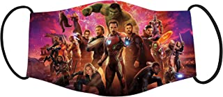Vista Avengers Cartoon Characters Printed Mask for Kids - Cotton Reusable Washable Mask Size 18x10cms