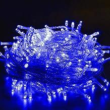 Waterdichte tuinlamp, sprookjesachtige slaapkamer, gebruikt in terras, achtertuin, tuin, kleine pub, café - blauw wit50m50...
