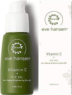 Eve Hansen Dermatologist Tested Vitamin C Eye Gel   Premium, Fragrance Free, Hypoallergenic Skin Brightening Spot Correcto...