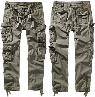 Brandit Pure Slim Fit Trouser (Olive, 3XL)