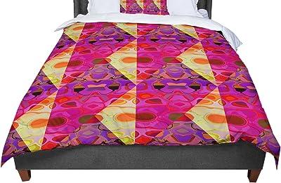 Cal King Comforter 104 X 88 KESS InHouse Louise Unnamed Blue Black King