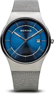 2663805fa1e3 BERING Reloj Analógico para Hombre de Cuarzo con Correa en Acero Inoxidable  11938-003
