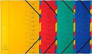 pasta di legno e olio vegetale Exacompta 56747E Classificatore Harmonika Eterneco con dorso estensibile 9 scomparti prodotto con materiali vegetali archiviazione di documenti A4 Visual casuali