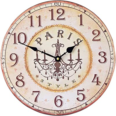 14 Inch Wall Clock American Retro Country Living Room Wall Clock Watch European Fashion Creative Minimalist