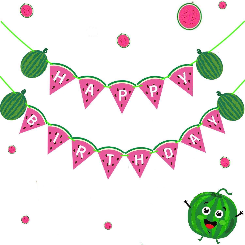 Cheap super special price Funnlot Watermelon Cheap Happy Birthday Decora Party Banner
