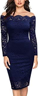 Best navy blue lace fitted dress Reviews