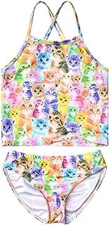 Jxstar Girls 2-Piece Bathing Suit Unicorn Swimsuits Swimwear Tankini for Kids