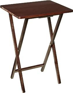 PJ Wood Folding TV Tray & Snack Table - Espresso