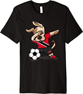 Dabbing Dog Trinidad and Tobago Soccer Jersey Football Team Premium T-Shirt
