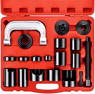 faersi 21 Pcs Ball Joint Service Tool Kit Master Ball Joint Press Adapter/Upper and Lower Ball Joint Removal Tool/Automotive Mechanic Tool Set