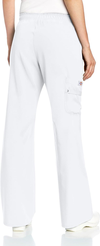 Dickies Pantalon médical Xtreme stretch 82012 pour femme, Taille élastique, hôpital/Médical/infirmière/Pantalon de beauté, 11couleurs XS à XXL Blanc