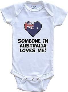Someone in Australia Loves Me Australian Flag Heart Baby Onesie