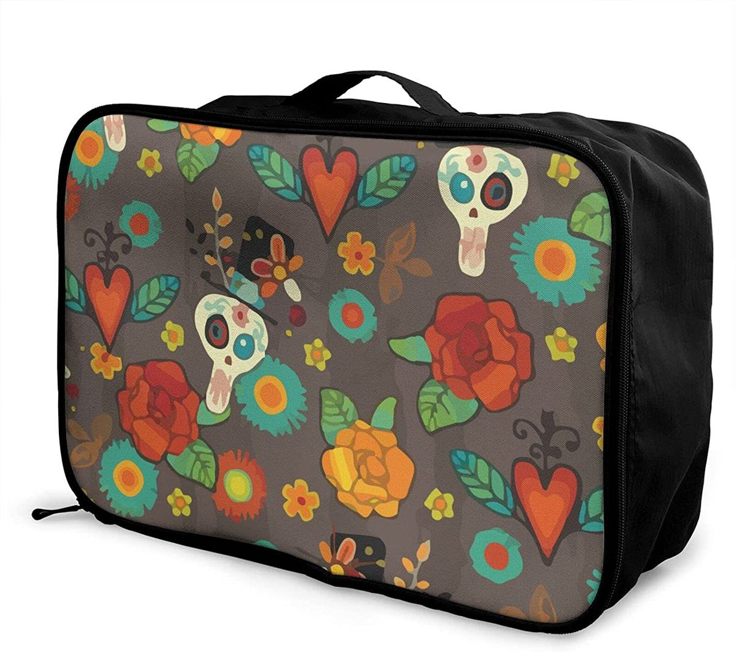 Foldable Travel Bag Tote Dia Department store De OFFicial store Muertos Carry-On Halloween T Los