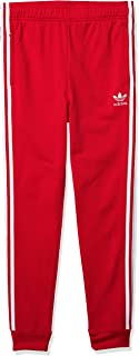 adidas Originals Kids' Superstar Track Pants, lush red/White, L