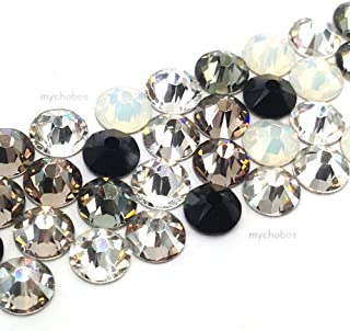 144 pcs (1 gross) Swarovski 2058 Xilion / 2088 Xirius Rose crystal flat backs No-Hotfix rhinestones nail art BLACK & WHITE Colors Mix ss9 (2.6mm) from Mychobos (Crystal-Wholesale)