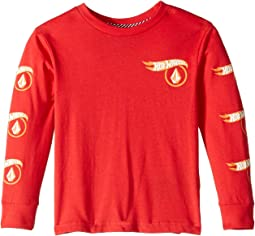Hot Wheels® X Volcom Long Sleeve Tee (Toddler/Little Kids)