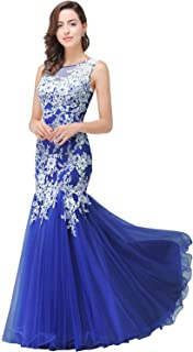 Sleeveless Long Mermaid Prom Dresses White Lace Evening Gowns