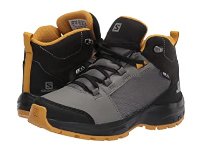 Salomon Kids OUTward CSWP (Little Kid/Big Kid) (Castor Gray/Black/Arrowwood) Kid