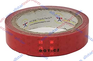 Red Reflective Tape DOT-C2 Conspiciuity Tape - COMMERCIAL ROLL - Automobile Car Truck Boat Trailer Semi (Red) (1 IN x 50 FT)