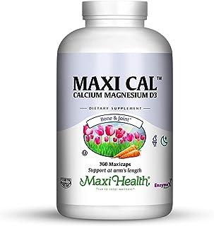 Maxi Health Calcium - with Vitamin D3 and Magnesium - Supports Healthy Bones - 360 Capsules - Kosher