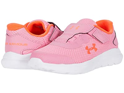 Under Armour Kids Surge 2 (Toddler) (Lipstick/White/Beta) Girls Shoes