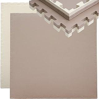 EYEPOWER 40 mm dikke vloerbeschermingsmat, 90 x 90 cm, trainingsmat, puzzelmat, uitbreidbare fitnessmat, incl. rand