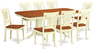 East West Furniture 9-Piece Dining Table Set